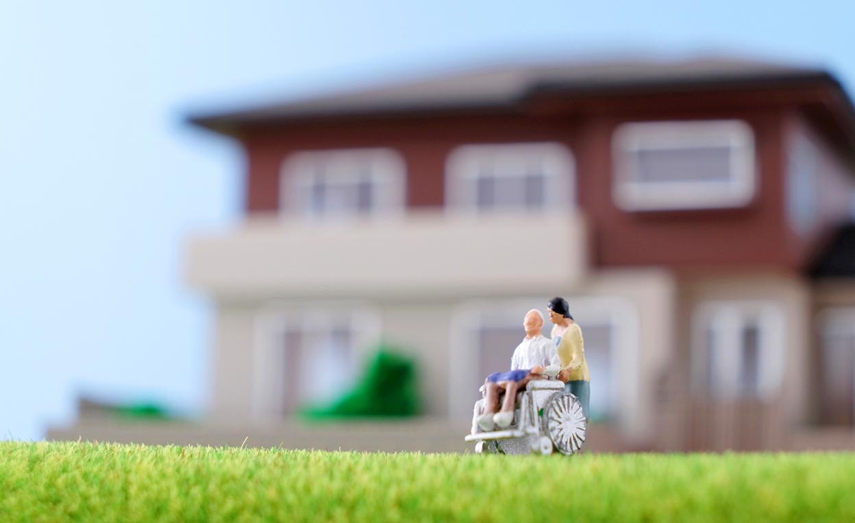 家と車椅子