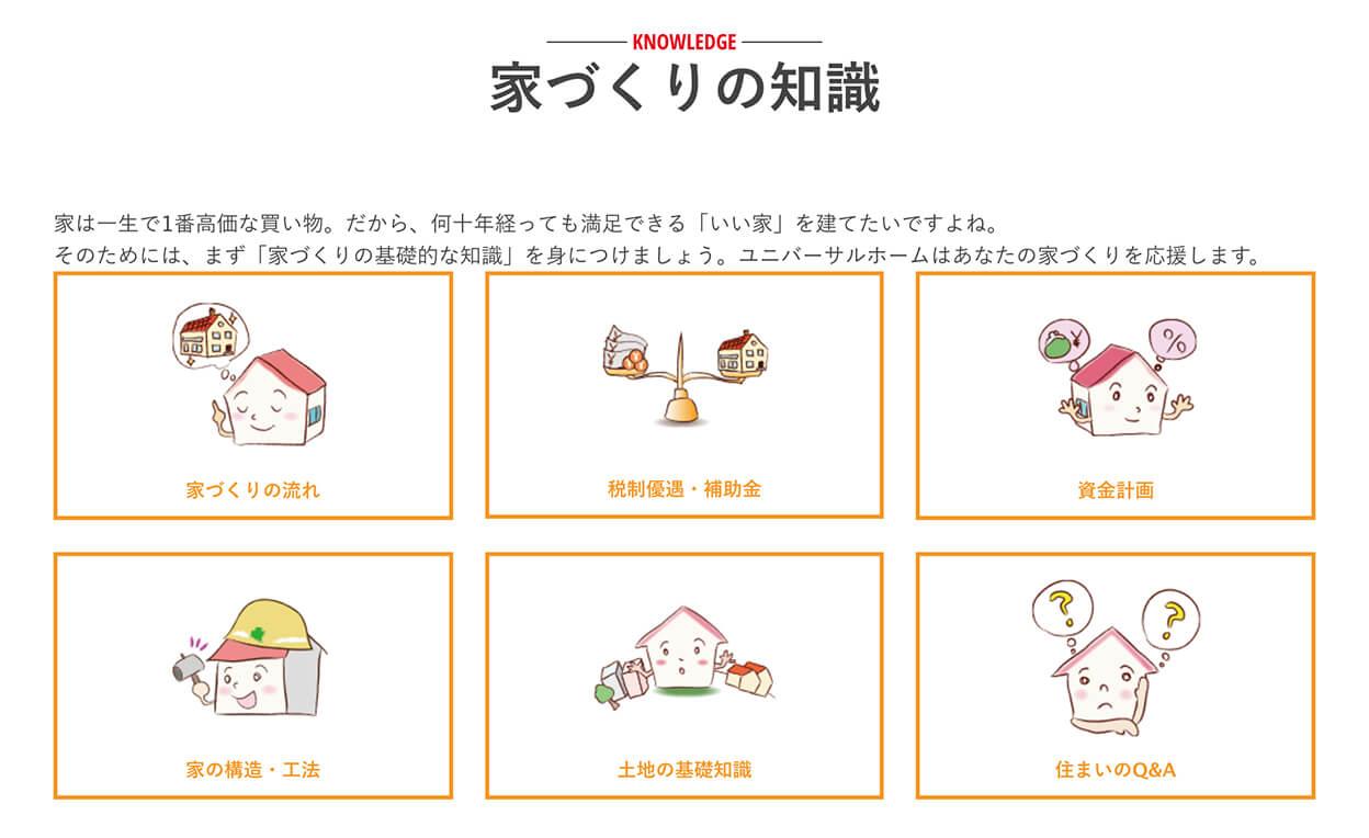 注文住宅のユニバーサルホーム『家づくりの知識』